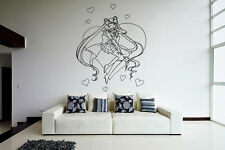 Wall Vinyl Sticker Decal Anime Manga Sailor Moon Girl VY187