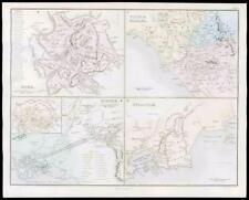 1864-Originale Antico Mappa Italia Antica Roma Siracusa ROMA athenae (21)