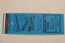 d234 Vintage Matchbook cover Islander Lounge So Parde Island Texas Tx south