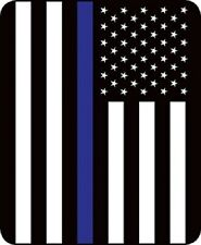 Police Flag Thin Blue Line Queen Size Blue Lives Matter Blanket 79'' x 96''