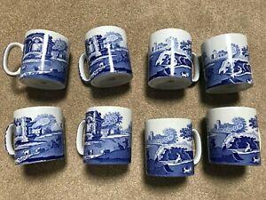 Spode mugs, Italian design blue, 8 available