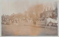 Hunt Meeting, horses, lady side-saddle, hounds, top-hats,    Q2120