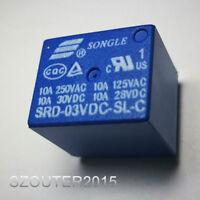 Miniatur Print Relais 5V 1-Wechsler 1xUM 10A 250V Songle SRD-05VDC-SL-C Relay