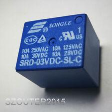 5PCS SRD-3VDC-SL-C  3V SONGLE Relay SRD-03VDC-SL-C  NEW