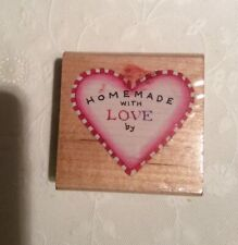 MADE WITH LOVE Heart Stamp
