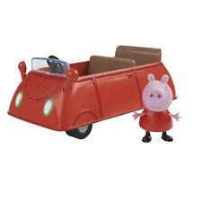 NUOVO Peppa Pig Peppa's rosso auto con Family Peppa Figura
