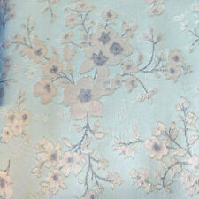 FLORAL PRINT JACQUARD FABRIC BTY SMALL BLOSSOMS BABY BLUE GRAY SPRING DAINTY