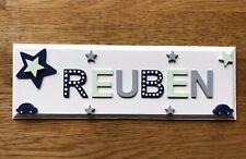 Personalised Bedroom Name Door Sign / Plaque Children Baby Girl Boy Gift Xmas
