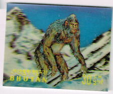 Bhutan Fauna Prehistoric Mountain Ape 3D stamp 1969 MLH