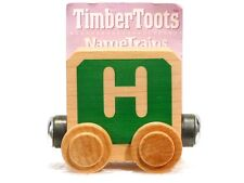 Timber Toots Name Trains Wooden Railway System Alphabet Preschool Toys Letter H