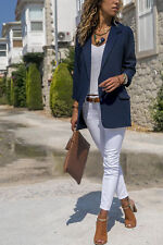 UK Womens Autumn Laple OL Blazer Coat Ladies Office Long Sleeve Jacket Outwear