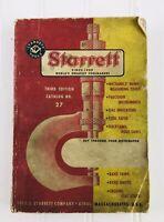 Vintage 1961 Starrett Catalog No. 27 Tools Mechanics Instruments Paperback Book