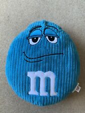 M&M plush cushion blue