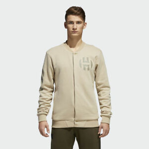 adidas Harden Varsity Mens New Jacket Vol. 2 Beige Raw Gold CE7321