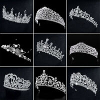 Birthday Diadem Wedding Bridal Crown Crystal Rhinestone Water Drop Shape Tiara