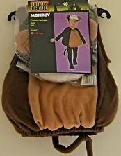 Monkey Halloween Costume Totally Ghoul Plush Fleece Jumpsuit 1 to 2 years