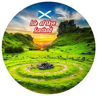ISLE OF SKYE - SCOTLAND - SIGHTS - ROUND SOUVENIR FRIDGE MAGNET - NEW - GIFTS