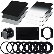 Neutral Density ND Filter Set ND2 ND4 ND8 + Gradual Neutral Density ND Filter...