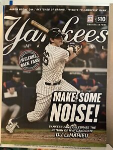 NY YANKEES STADIUM OPENING DAY PROGRAM 2021 TORONTO BLUE JAYS MLB BASEBALL