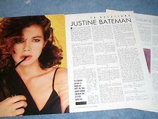 1987 Justine Bateman 20 Questions Interview Article Family Ties Satisfaction