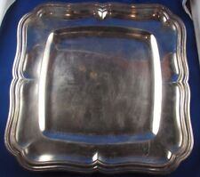 ancien grand plat plateau au filet argent massif poincon minerve 19 e style LXV