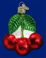 Cherries Old World Christmas Blown Glass Fruit Cherry Theme Ornament Nwt 28050