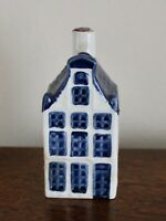 KLM Blue Delft Old Dutch House Miniature #19  Nearly Full Rynbende Distillery