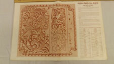 Vtg Craftaid Doodle Page Floral Carving Questions Series 7/8 by Ray Pohja