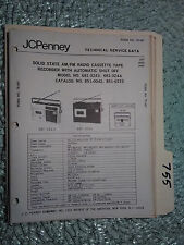 JC Penny JCP 681-3243 3244 851-0042 0133  service manual original repair radio