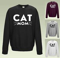 Cat Mom Sweatshirt JH030 Sweater Jumper Cute Whiskers Mum Fur Baby Crazy