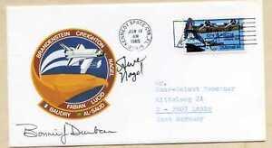 Steven Nagel & Bonnie J. Dunbar - signierter Ersttagsbrief / FDC von 1985