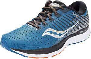 Saucony Men's Guide 13 Running Shoe, Blue/Silver, 11.5 D(M) US