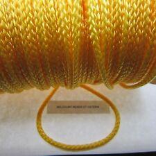 60 Feet Yellow Nylon Braided Cord 1/8 Inch (20 Yards) - Unbreakable Heavy Cord