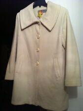 Anne Klein women cashmere winter coat wool Ivory Off-white- Excellent MSRP $399