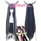 Danganronpa Dangan-Ronpa Ibuki Mioda Deluxe Long Mix Black Styled Cosplay Wig