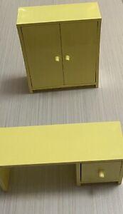 Ikea Dollhouse Miniature Furniture Toys Office Desk And  Cabinet