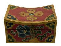 Cofanetto Cuscino Scatola Buddista Double Dorje 15cm Artigianato Tibetano 9955