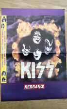KISS heads in fire Centerfold magazine POSTER  17x11 inches