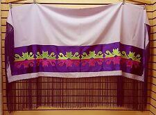 NICE HOMEMADE LIGHT PURPLE RIBBONWORK DESIGN NATIVE AMERICAN INDIAN DANCE SHAWL