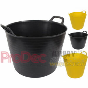 Prodec Flxible Tubs Large Capacity Flexi Rubber Storage Bucket Painters Builders