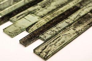 Olive Green Glass Mosaic Tile | 1 sheet 300x300x8mm | 11 sheets 1sqm