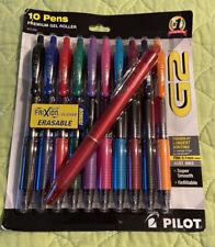 G2 Prem Gel Roller Pens/Asst Ink Colors by Pilot - 10 + 1 Free FriXion Erasable