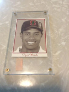 Tiger Woods 1999 STANFORD Student Edition PROMO card #8