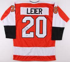 Taylor Leier Signed Flyers Jersey (Beckett COA) Philadelphia Left Winger