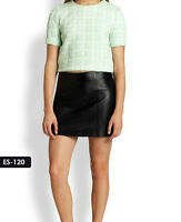 Genuine Soft Lambskin Leather Mini Skirt