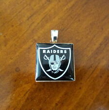 OAKLAND RAIDERS NFL LOGO TILE CHARM PENDANT LifeTiles bead game day fan jewelry