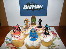 Batman and Villains Set of 12 Cake Toppers Cupcake Toppers Party Decorations