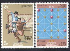 Nepal 1974 Fútbol/Soccer/baghchal/Deportes/juegos de mesa/ocio 2 V Set (n38837)