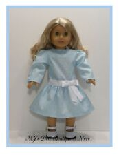 Light Blue Sparkles Party Dress fits American Girl Doll