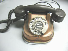 VINTAGE  TELEPHONE  RTT COPPER HOUSING w/ BRASS HANDLE  MADE IN  BELGIUM